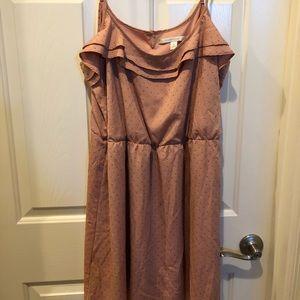 Lauren Conrad blush dress with gold dots